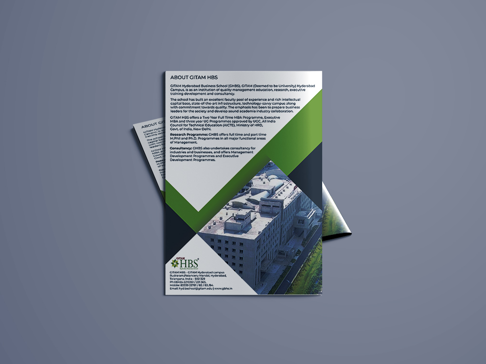 GITAM Hyderabad Business school Brochure Design